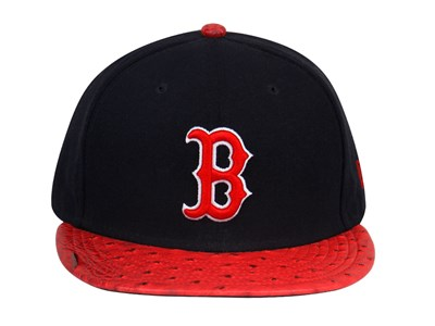 Boston Red Sox MLB Reptile Mix Black Red 9FIFTY Cap