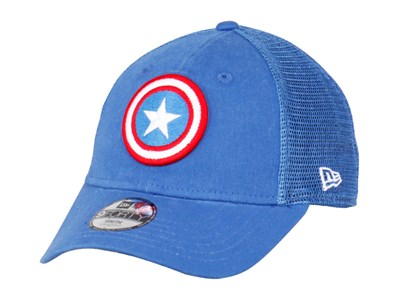 Captain America Marvel Trucker Washed Blue 9FORTY Youth Cap