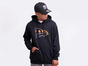 Siargao New Era Landscape Flag Logo Black Hoodie