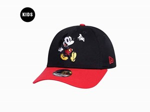 Mickey Mouse Disney Waving Red Black 9FORTY Youth Kids Cap