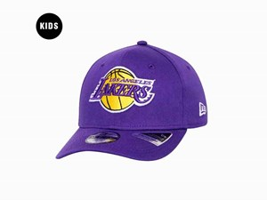 Los Angeles Lakers NBA Team Stretch Snap Purple 9FIFTY Youth Kids Cap (LAST STOCK)