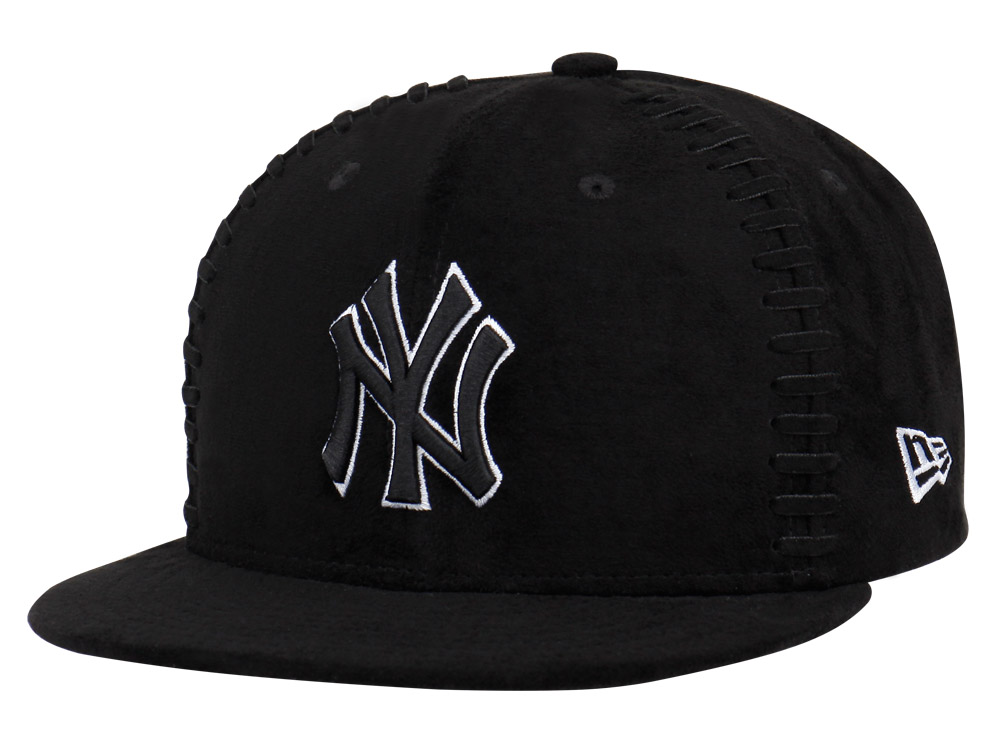 New York Yankees MLB Team Interlace Black 9FIFTY Cap
