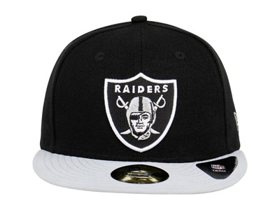 Oakland Raiders NFL Black Gray 59FIFTY Cap