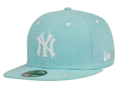 New York Yankees MLB Chambray Mint Blue 59FIFTY Cap