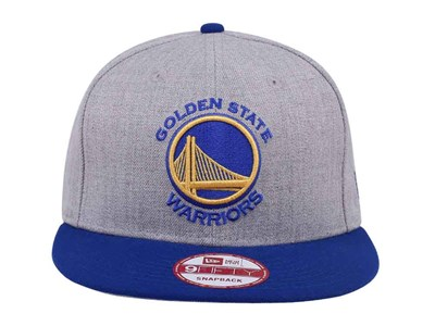 Golden State Warriors NBA Two Tone Heather Gray Blue 9FIFTY Cap
