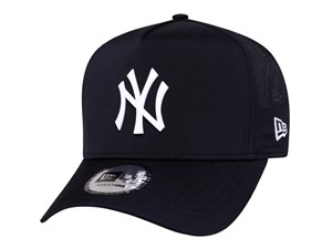 New York Yankees MLB Perforated Matte PolyMetal Trucker Black 9FORTY K-Frame Cap