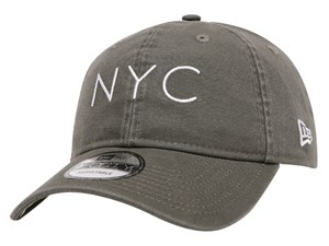 New Era NYC Washed Duck Canvas Moss 9FORTY Unstructured Cap