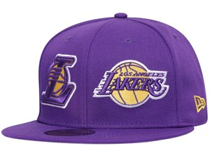 Los Angeles Lakers NBA Double Whammy Purple 59FIFTY Cap