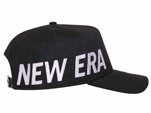 New Era White Wordmark Side Essential Black 9FORTY A-Frame Cap