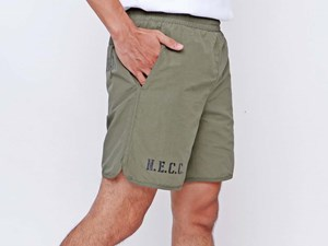 New Era Forest Green Woven Shorts