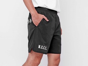 New Era Black Woven Shorts