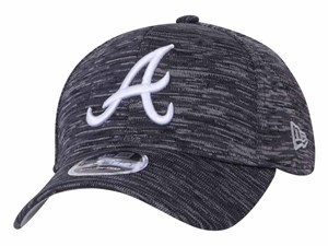 Atlanta Braves MLB Tech Gray 9FORTY Stretch Snap cap