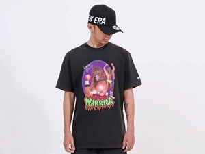 New Era WWE Legends Ultimate Warrior Short Sleeve Black Shirt