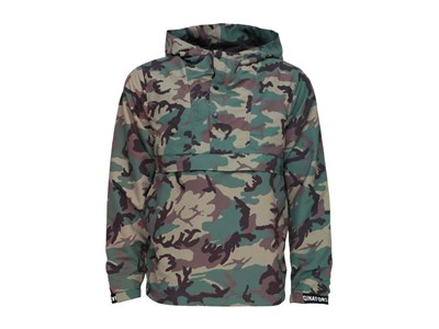 New Era Military Pullover Parka Woodland Camo Black Hoodie