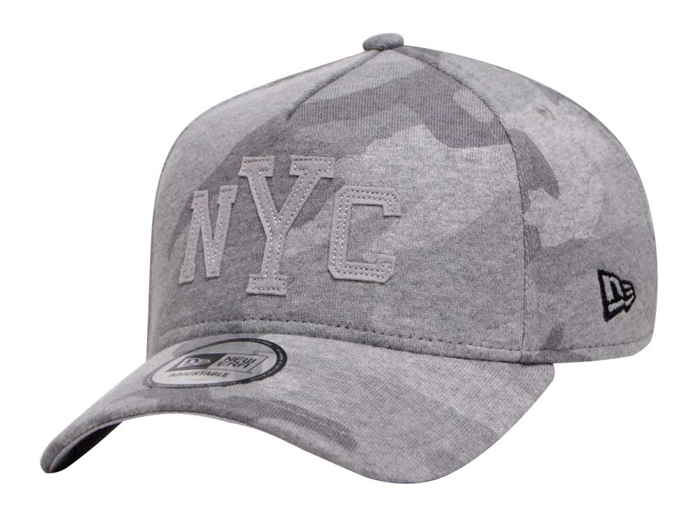 New Era NYC Sweat Gray Camo 9FORTY A-Frame Cap  ab4a6df4765