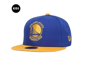 Golden State Warriors NBA Two Tone Yellow Blue 9FIFTY  Youth Kids Cap