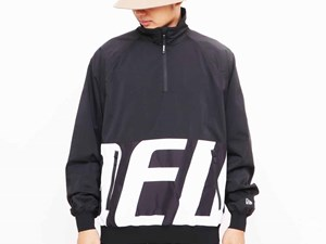 New Era Tech Half Zip Up Black Jacket