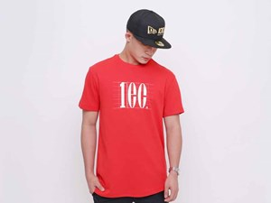 New Era 100th Anniversary Centennial Red Short Sleeve Shirt