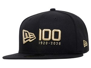 New Era 100th Gold Logo Centennial Black 59FIFTY Cap