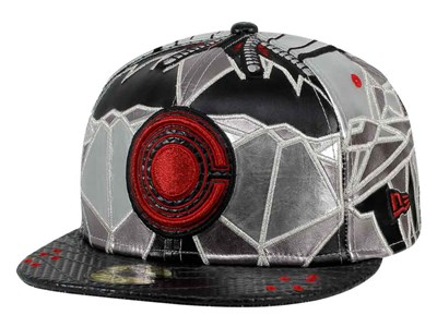 Cyborg DC Justice League Black Gray 59FIFTY Cap