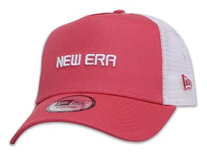 New Era Wordmark Essential Pastel Pink Trucker 9FORTY A-Frame Cap