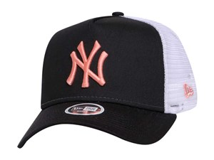 New York Yankees MLB League Essential Trucker Black 9FORTY A-Frame Womens Cap (LAST STOCK)
